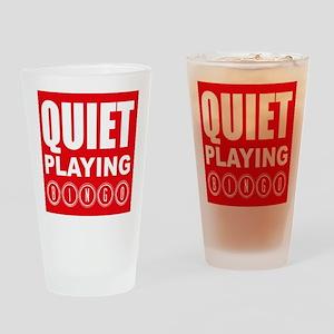 Quiet Playing Bingo Drinking Glass