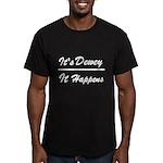 Dewey Happens Men's Fitted T-Shirt (dark)