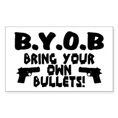 BYOB Sticker (Rectangle 50 pk)