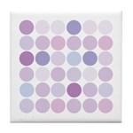 polka dotty Tile Coaster