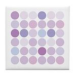polka dotty Tile Coaster