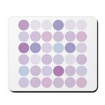 polka dotty Mousepad