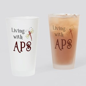 Living with APS - Dragonfly Pint Glass