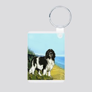 Landseer on the Beach Aluminum Photo Keychain