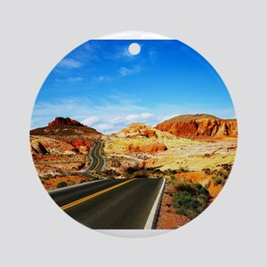 Valley of Fire Ornament (Round)