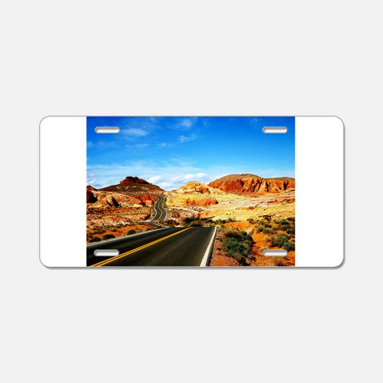 Valley of Fire Aluminum License Plate
