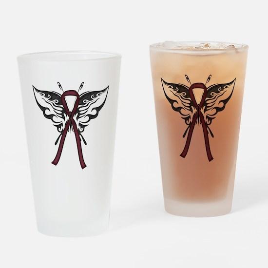 Tribal Butterfly Pint Glass