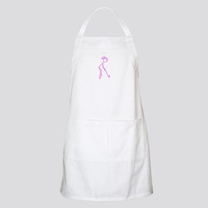 Pink Golfing Girl No Words Apron