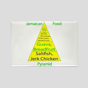 Jamaican Food Pyramid Rectangle Magnet