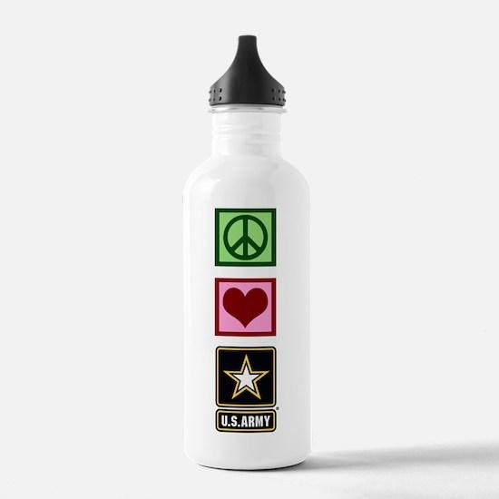 Peace Love Army Water Bottle