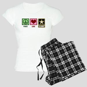 Peace Love Army Women's Light Pajamas