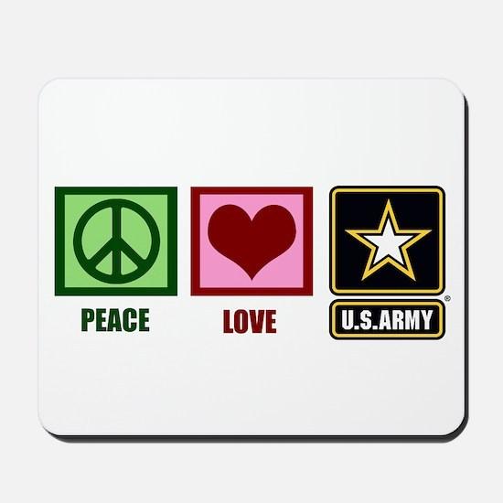 Peace Love Army Mousepad