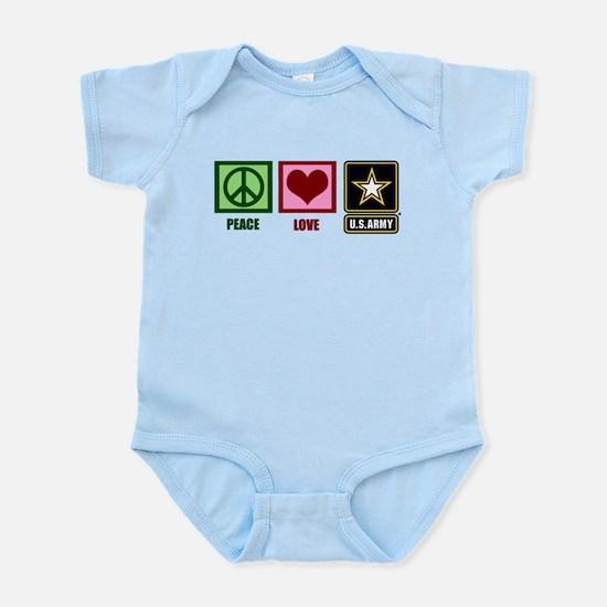 Peace Love Army Infant Bodysuit