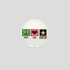 Peace Love Army Mini Button