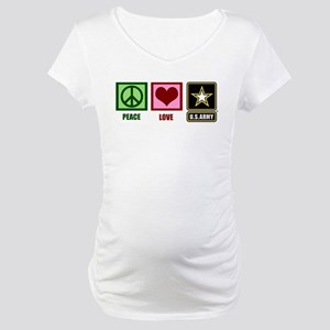 Peace Love Army Maternity T-Shirt