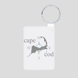 Cape Cod Compass Aluminum Photo Keychain