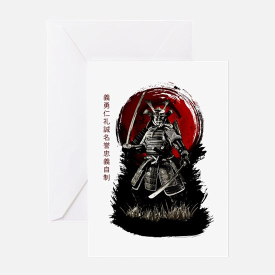 Cool Samurai Greeting Card