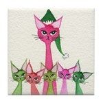 Christmas Stray Cats Coaster