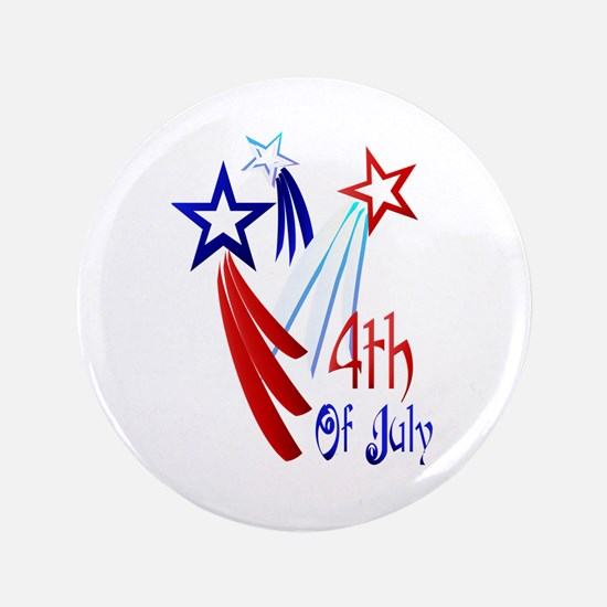 """4th Of JULY 3.5"""" Button"""