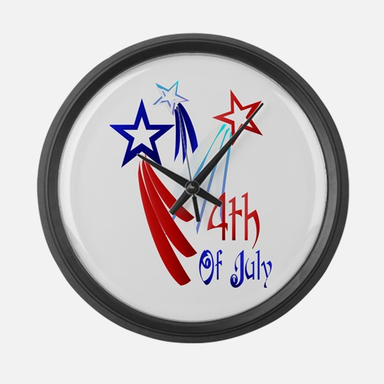 4th Of JULY Large Wall Clock