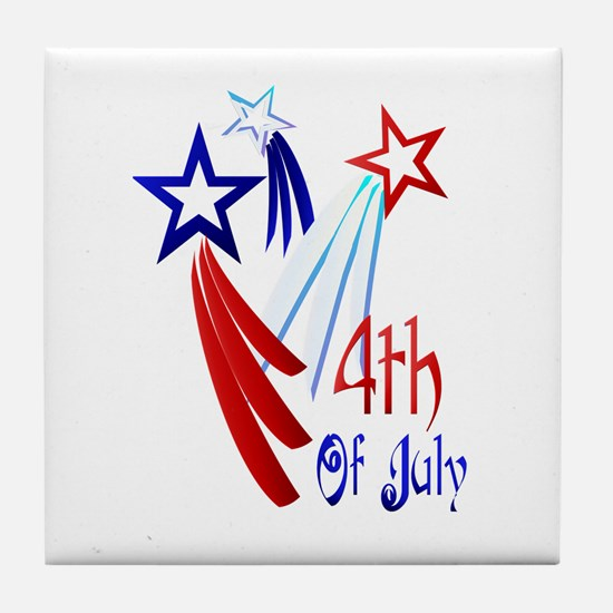 4th Of JULY Tile Coaster