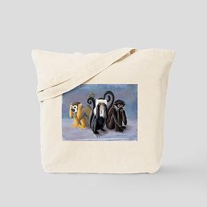 Three Monkeys Tote Bag