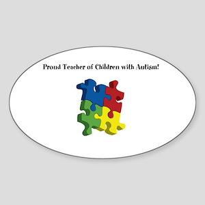 Proud Teacher of Children wit Sticker (Oval)