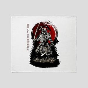 Bushido Samurai Throw Blanket