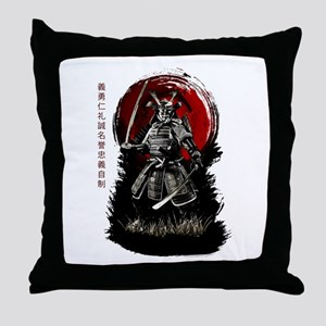 Bushido Samurai Throw Pillow