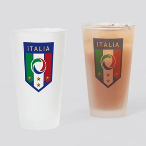 Italian Soccer emblem Pint Glass
