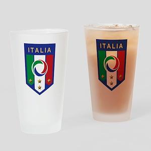 Italian Soccer emblem Pint Glass