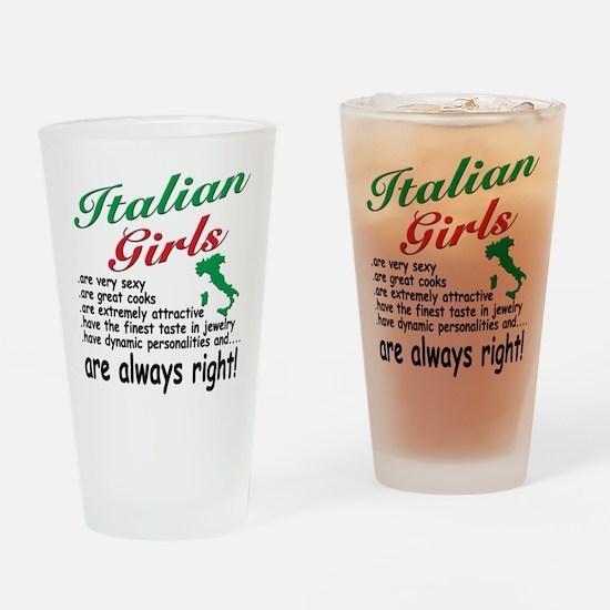 Italian Girls Pint Glass