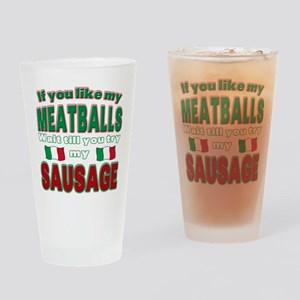 Italian Food Pint Glass