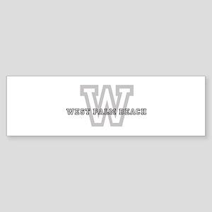 Letter W: West Palm Beach Bumper Sticker