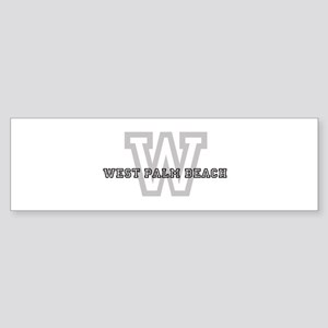 Letter W: West Palm Beach Bumper Sticker