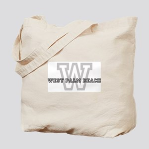 Letter W: West Palm Beach Tote Bag