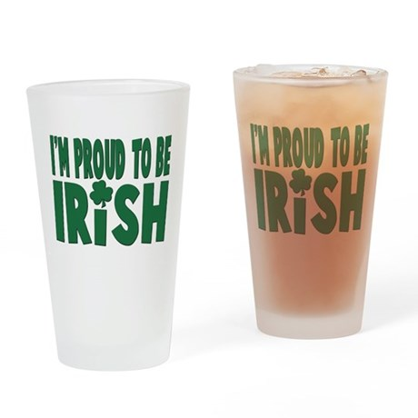 Proud to be irish Pint Glass