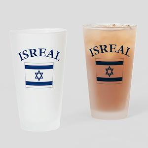 I love Isreal Pint Glass