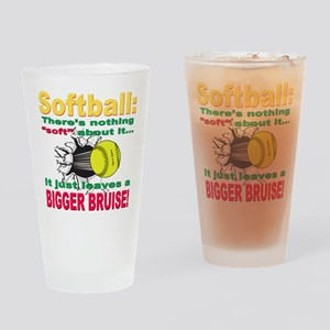 Girls Softball Pint Glass