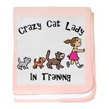 Crazy Cat Lady In Training baby blanket
