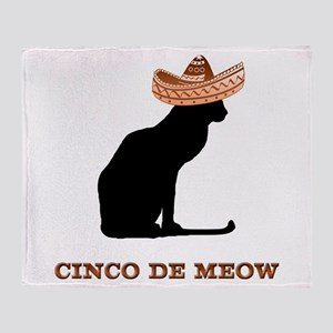 Cinco de Meow Throw Blanket