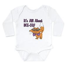 It's All About Me Cat Long Sleeve Infant Bodysuit