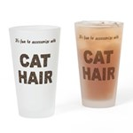 Accessorize With Cat Hair Pint Glass