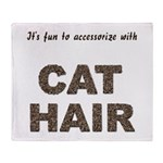 Accessorize With Cat Hair Throw Blanket