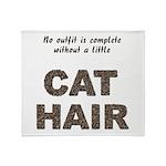 Cat Hair Throw Blanket