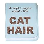 Cat Hair baby blanket