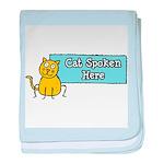 Cat Spoken Here baby blanket