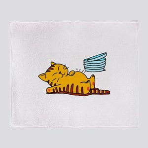 Funny Fat Cat Throw Blanket