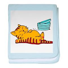 Funny Fat Cat baby blanket