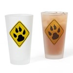Cat Crossing Sign Pint Glass